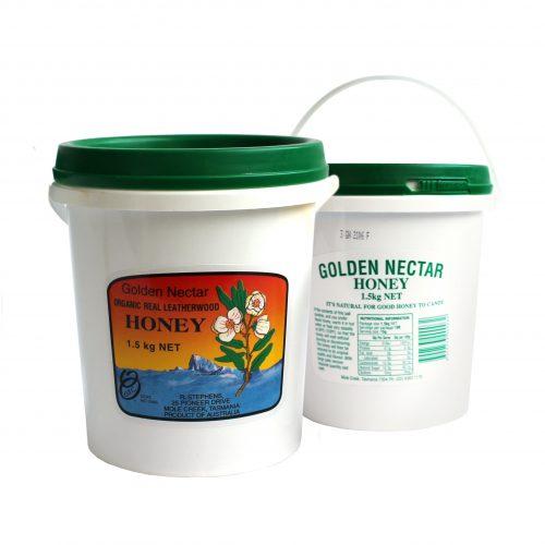 Golden Nectar Leatherwood Honey Bucket 1.5kg