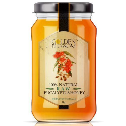 Golden Blossom Raw Eucalyptus – 1kg Glass Jar
