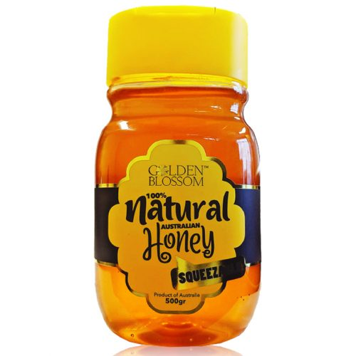 Golden Blossom Raw Eucalyptus Honey Squeeze Bottle 500gr
