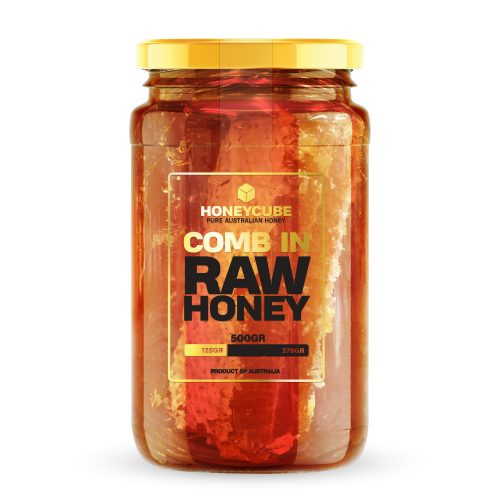 Comb in Raw Honey 500g