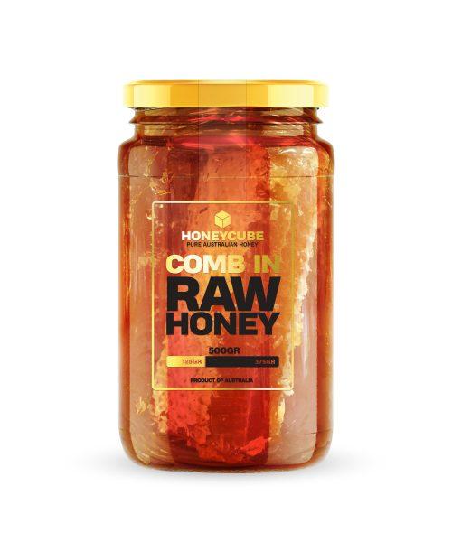 Comb in Raw Honey 500g