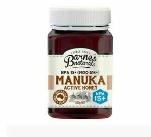 Barnes Naturals Australian Manuka Honey MGO 514+ x3