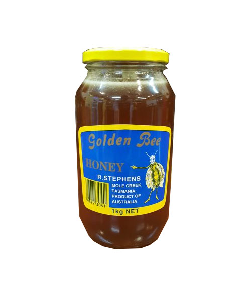 Golden Bee Honey Glass Jar 1kg