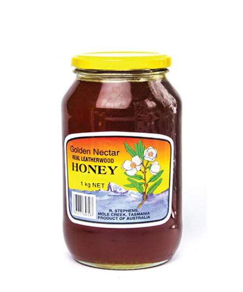Golden Nectar Leatherwood Honey | Glass Jar