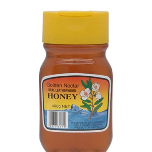 Golden Nectar Leatherwood Honey Squeeze Plastic Jar 400g