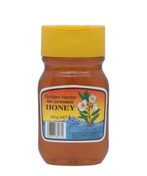Golden Nectar Leatherwood Honey Squeeze Plastic Jar 400g