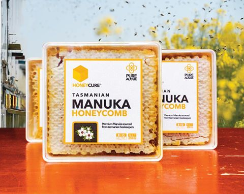 Honey Cure Tasmania Manuka Honey Comb 350gr