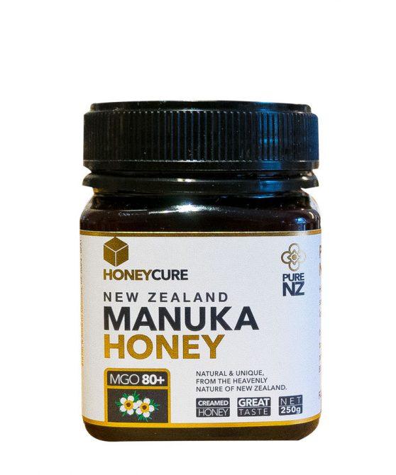 Honey Cure New Zealand  Manuka 250g MGO80