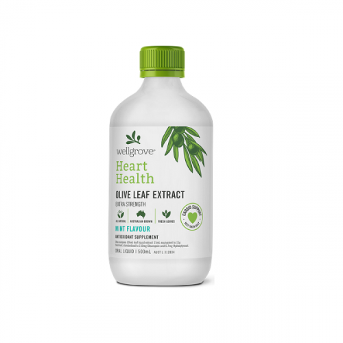 Wellgrove® Heart Health Extra Strength – OLIVE LEAF EXTRACT MINT FLAVOUR