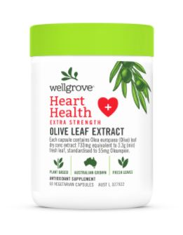 Wellgrove® Heart Health Extra Strength – OLIVE LEAF EXTRACT CAPSULES
